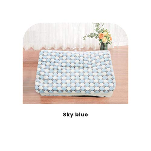 LIYONG Pet Dogs Beds | New Soft Cat Bed Rest Dog Blanket Winter Foldable Pet Cushion Dog Bed Coral Cashmere Soft Warm Sleep Mat Sweet Dream Bed-3-51X34Cm HLSJ (Color : 4, Size : 91x70cm)