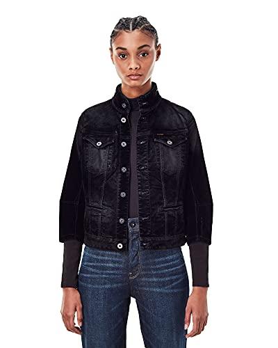 G-STAR RAW Utility Slim Jacket Wmn Chaqueta, Black Iced Flock C478-b699, XXS para Mujer