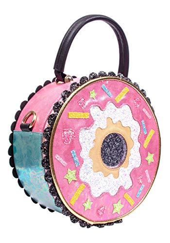 Irregular Choice Donut Worry Pink & White Handbag Standard