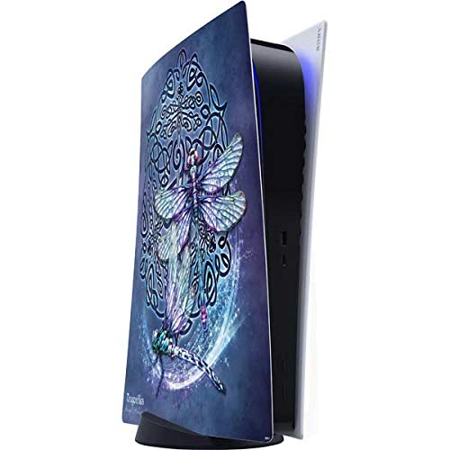 Skinit Decal Gaming Skin Compatible with PS5 Digital Edition Console - Tate and Co. Dragonfly Celtic Knot Design