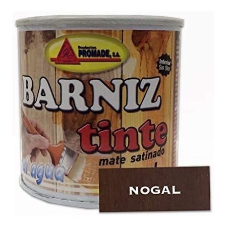 PROMADE - Barniz tinte satinado al agua nogal 375 ml