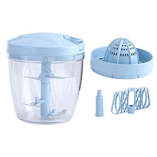 Insicive Picador de carne Picadora de carne Hand Pull Blender Herramientas de procesamiento de alimentos para frutas (azul)