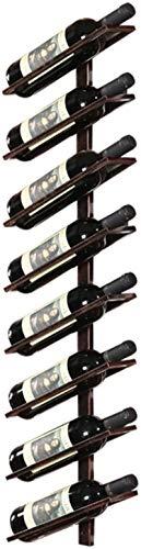 Elegante Botellero, Vino Bastidores Bastidores vino del metal Wall Holder  Titular de la botella de vino de la vendimia montado en la pared  Vino Titular rústica  Enfriador de vino estante de la pared