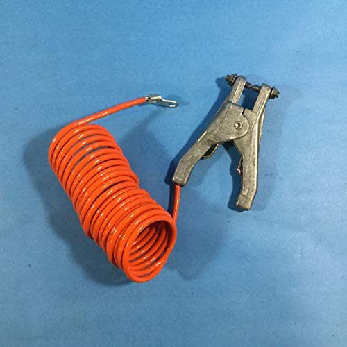 Stewart Browne RAC5 Retract-A-Clamp Grounding Cables, vinyl coated weather resistant coiled 1/8' cable. Heavy duty aluminum plier clamp has stainless steel points. 5 ft. Extended length, plier clamp 1/4' terminal end connectors.