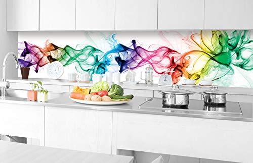 DIMEX LINE Küchenrückwand Folie selbstklebend Rauch | Klebefolie - Dekofolie - Spritzschutz für Küche | Premium QUALITÄT - Made in EU | 350 cm x 60 cm