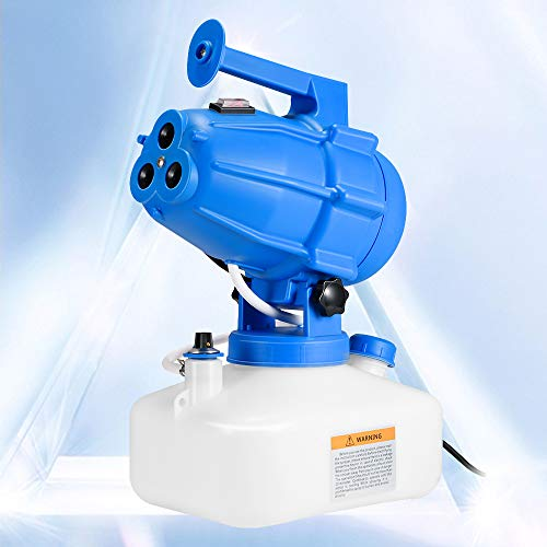 TTLIFE Spruzzatore Disinfettante Elettrico 5L Portatile ULV Fogger, 1200W 3Ugelli Macchina Profondità di Aria Pulita Nebulizzatore per Fabbrica,Scuola,Ospedale,Giardino Sterilizzazione(blu1)