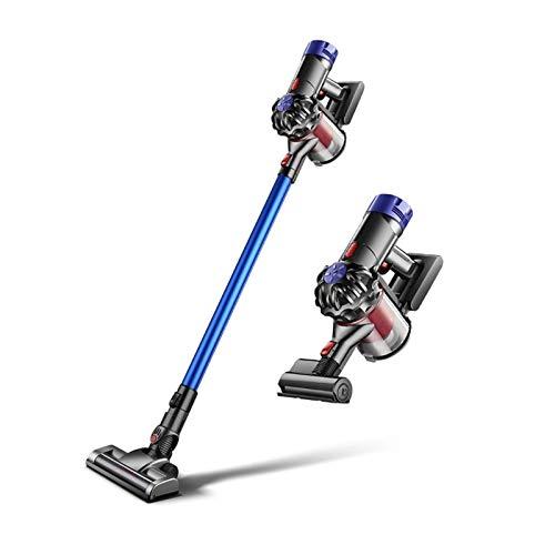 Limpiador de aspiradora vertical sin bolsas Succión de potencia de 2 motores Limpiador de aspiradora ligera con manguera de 10 ', filtro, 2 herramientas de limpieza para el pelo de mascotas, alfombra