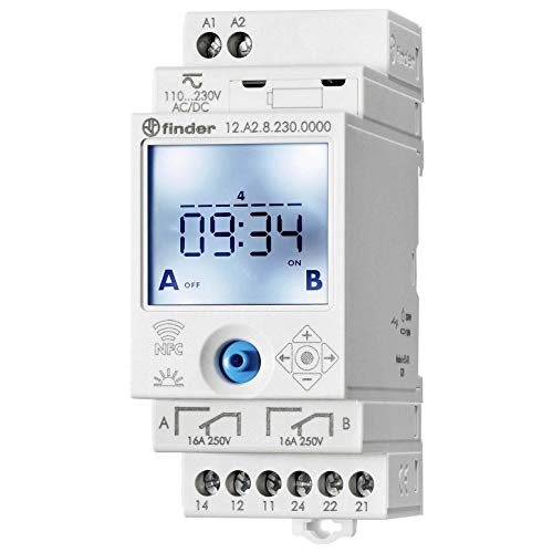 Finder serie 12 - Interruptor horario 2co nfc on/off/pulso/astro