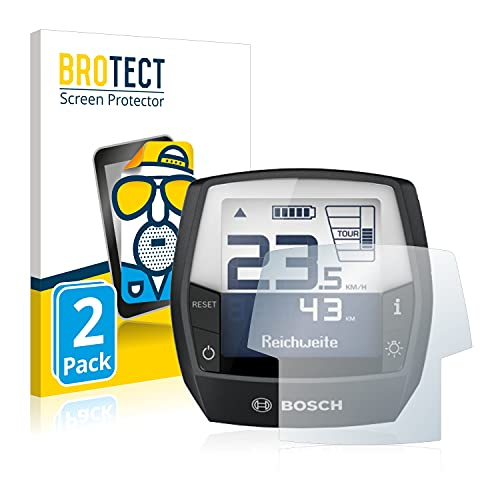 BROTECT 2X Entspiegelungs-Schutzfolie kompatibel mit Bosch Intuvia Active Line (E-Bike Display) Displayschutz-Folie Matt, Anti-Fingerprint