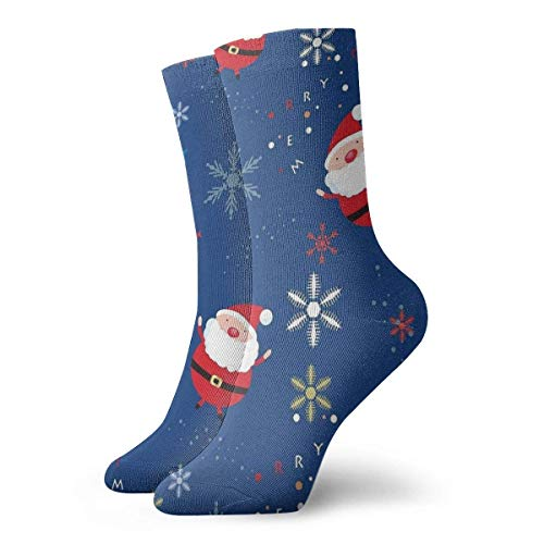 Kevin-Shop Chaussettes pour Hommes et Femmes - Chaussettes de Santa Claus colorées