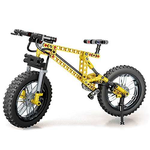 Lommer Technik Motorrad, 209 Klemmbausteine Technik Mountainbike Modell, Bausteine Bausatz Kompatibel mit Lego Technic