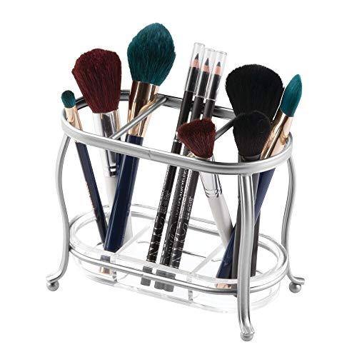mDesign Make up Organizer für den Waschtisch oder Spiegelschrank – Schminkaufbewahrung aus Metall...