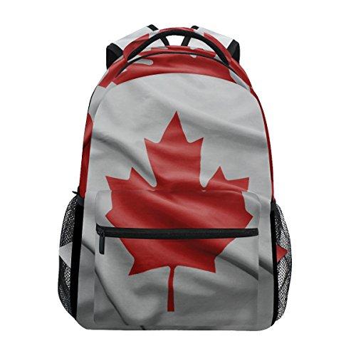 Unisex Rucksack Kanada-Flagge, für Schule und Studenten