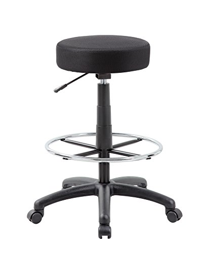 Boss Office Products DOT Drafting Stool in Black