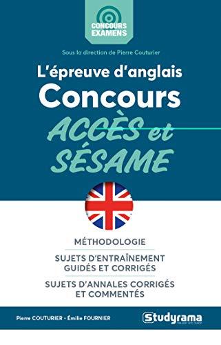 L'épreuve d'anglais aux concours accès et sésame