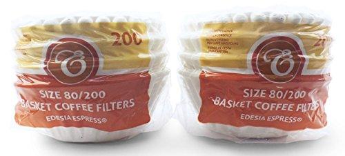 EDESIA ESPRESS - 400 filtres à café en papier - forme corbeille - 8 à 12 tasses - 80/200 mm
