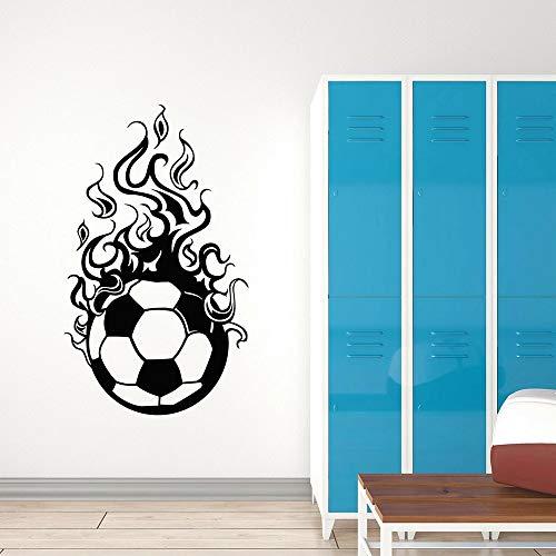 WERWN Fútbol Pared fútbol Equipo Deportivo Juego Estilo Anime Vinilo Autoadhesivo Pegatinas de Pared habitación Adolescente decoración del hogar
