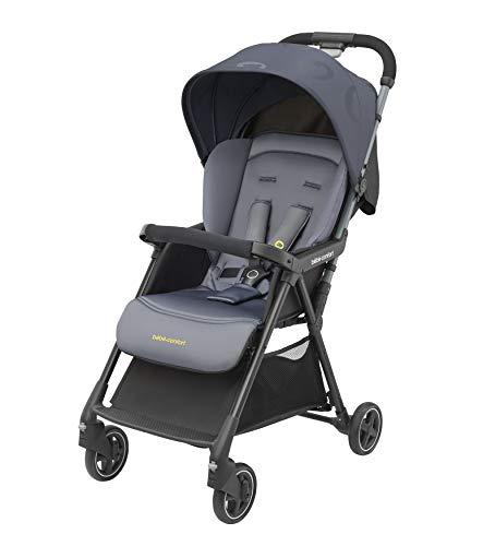Bébé Confort Diza Kinderwagen, ultraleicht und kompakt, neigbar und faltbar, mit Buchverschluss, Gewicht 4,2 kg, großes Verdeck, Farbe Brave Graphite
