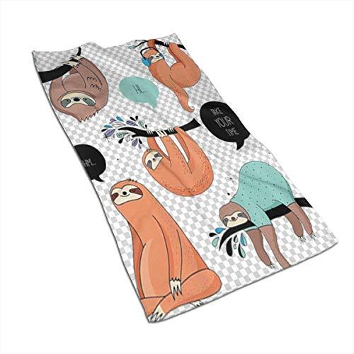 JULOE Toalla de Baño Toallas de Mano Absorbente Paño de Lavado Ilustración de Dibujos Animados Tribu de Slo-THS Smiles 27.5 X 17.5 in