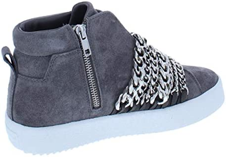 KYLIE Duke High Top Platform Sneakers Gray Suede KENDALL 8 US