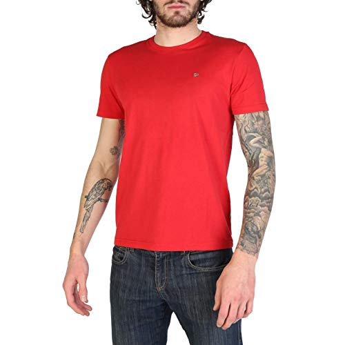 Napapijri Short Sleeve T Shirt SELIOS Mens Size XXL Red