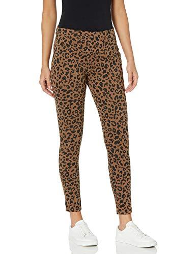 Amazon Essentials Skinny Stretch Pull-on Knit Jegging Pantalones, Marrón (Camel Animal Print), ((Talla del...