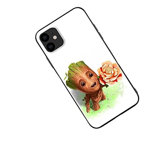 Groot Funda de silicona La funda del teléfono móvil Funda protectora, compatible con todos los iPhones, protección integral, estructura de 3 capas-Anime_3_iPhone_12_XS_Max