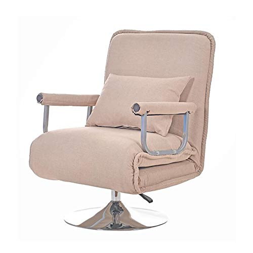 Convertible Sofa Bed Folding Arm Chair Sleeper Leisure Recliner Lounge Couch for Single Sleep Guest Home Bedroom Living Room Office Indoor