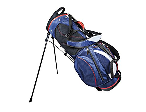 Club Champ Deluxe Stand Golf Bag, Red/White/Blue