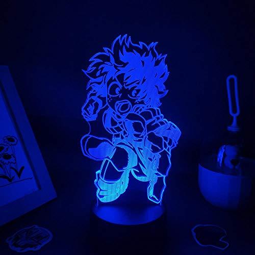 3D noche luz anime figura led noche luces regalos amigos manga dormitorio decoración mesa mi héroe Academia lámpara zBXQ