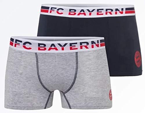 Bayern München kompatibel Boxershorts 2er Set + Sticker, FCB, Shorts, Boxer-Short (M)