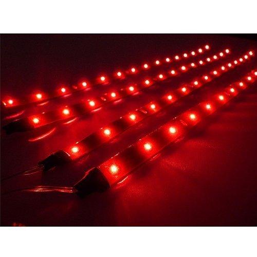 TOOGOO(R) 4 X 30cm Bande de Lampe LED Etanche et Flexible pour la Voiture