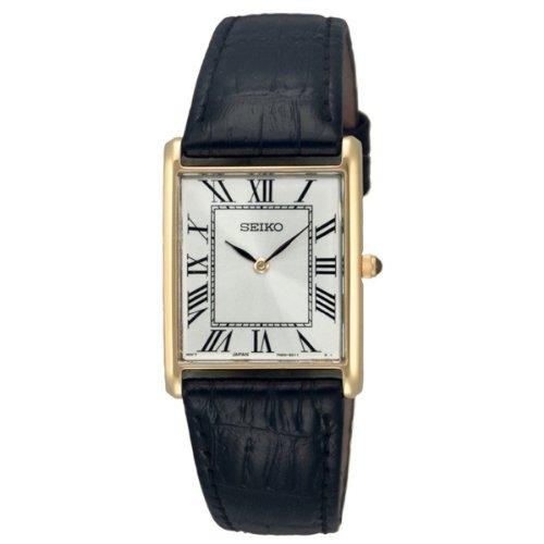 Seiko Quarz Herren-Uhr Edelstahl mit Lederband SFP608P1
