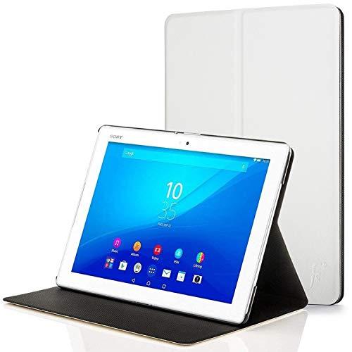 Forefront Hülles Hülle für Sony Xperia Z4 Tablet 10.1 SGP771 Schutzülle Hülle Cover und Ständer - Dünn Leicht, R&um-Geräteschutz und Auto Schlaf Wach Funktion + Stift - Weiß