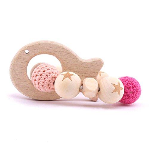 Best for baby Holz Beißring Tier Armband Gedruckte Holzperlen Baby Spielzeug Baby Zahnen Montessori Spielzeug