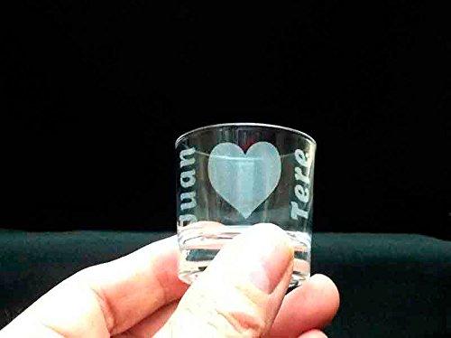 regalo grabado Vasos chupito 4cl Personalizados como desee (6 Unidades)