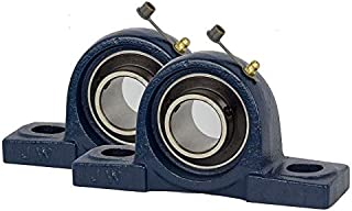 Jeremywell 2 Pieces UCP205-16, 1 Inch Pillow Block Bearing, Solid Base, Self-Alignment, Brand New