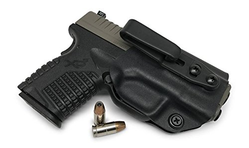 Concealment Express: Springfield XD-S 3.3/4.0' Tuckable Ambidextrous IWB KYDEX Holster - Custom Fit - US Made - Concealed Carry Holster - Fully Adjustable (BLK, ULTI)