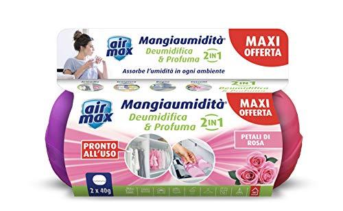 Air Max D0125 Mini Kit Assorbiumidità, Petali di Rosa, Promo pack 2x40gr