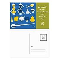 スポイトのゴムのドロッパーの化学 詩のポストカードセットサンクスカード郵送側20個