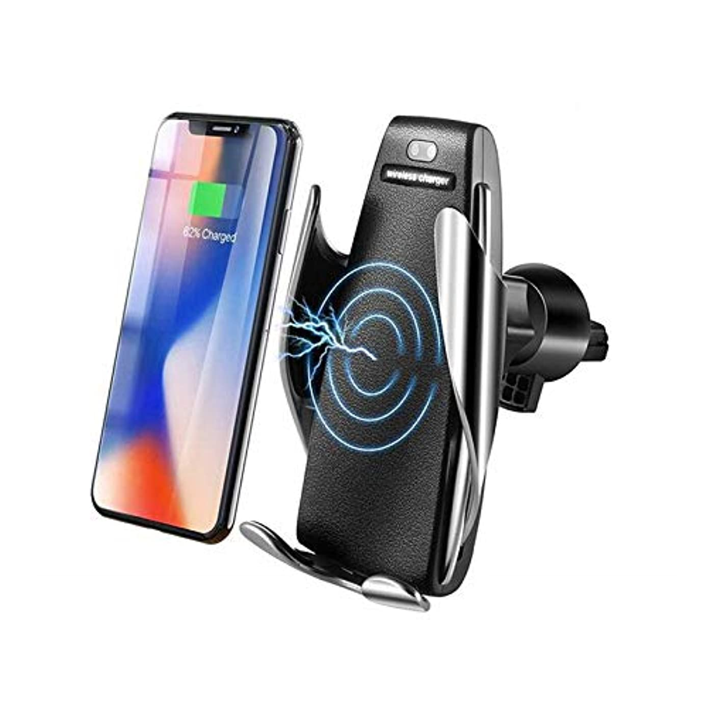 Qi Automatic Clamping Infrared Sensor Quick 3.0 Fast Car Wireless Charger Holder for iPhone X 8 Xs Max XR Samsung S8 S9