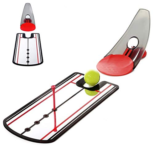 """GLANC Golf Putting Training Aid, Putting Practice Mirror Alignment (12"""" x 6"""") Swing Trainer and..."""