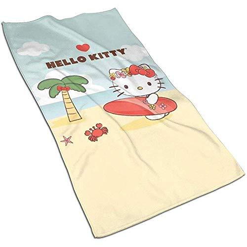 Sommer Hello Kitty Soft Super Absorbent sneldrogende handdoek badhanddoek strandlaken - 27,5 x 17,5 inch
