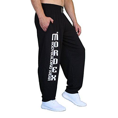 MORDEX BW Lange Fitnesshose Trainingshose Bodybuilding (schwarz, L)