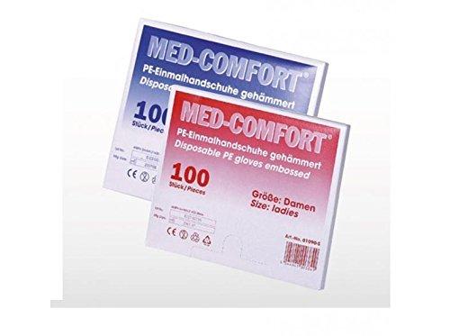 AMPri Med Comfort PE Handschuhe, Gr. S, unsteril, gehämmert, transparent (01080-S),100St