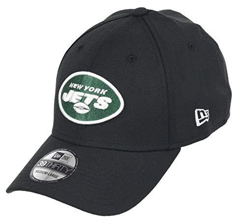New Era New York Jets 39thirty Stretch Cap - NFL Core Edition - Black - L-XL (7 1/8-7 5/8)