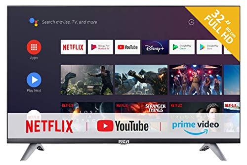 RCA RS32F3 Android TV (32 Pulgadas Full HD Smart TV con Google Assistant), Chromecast Incorporado, HDMI, USB, WiFi, Bluetooth, Triple Tuner