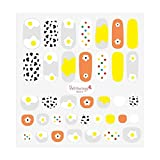Nail Stickers for Girls and Boys, Kids, Toddlers Nail Wrap Decals Polish Self Adhesive Deco with Korean Artists Painting (Cute Eggs)