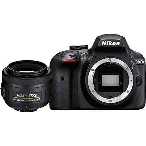 Nikon D3400 KIT inkl. AF-S DX Nikkor 35 mm 1:1.8G, schwarz