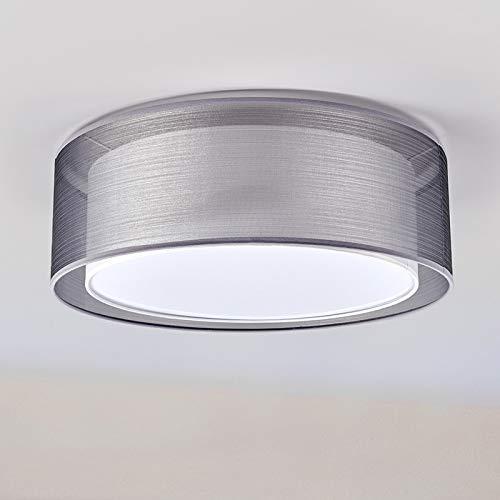 Lindby Deckenlampe \'Nica\' dimmbar (Modern) in Alu aus Textil u.a. für Wohnzimmer & Esszimmer (3 flammig, E27, A++) - Deckenleuchte, Lampe, Wohnzimmerlampe